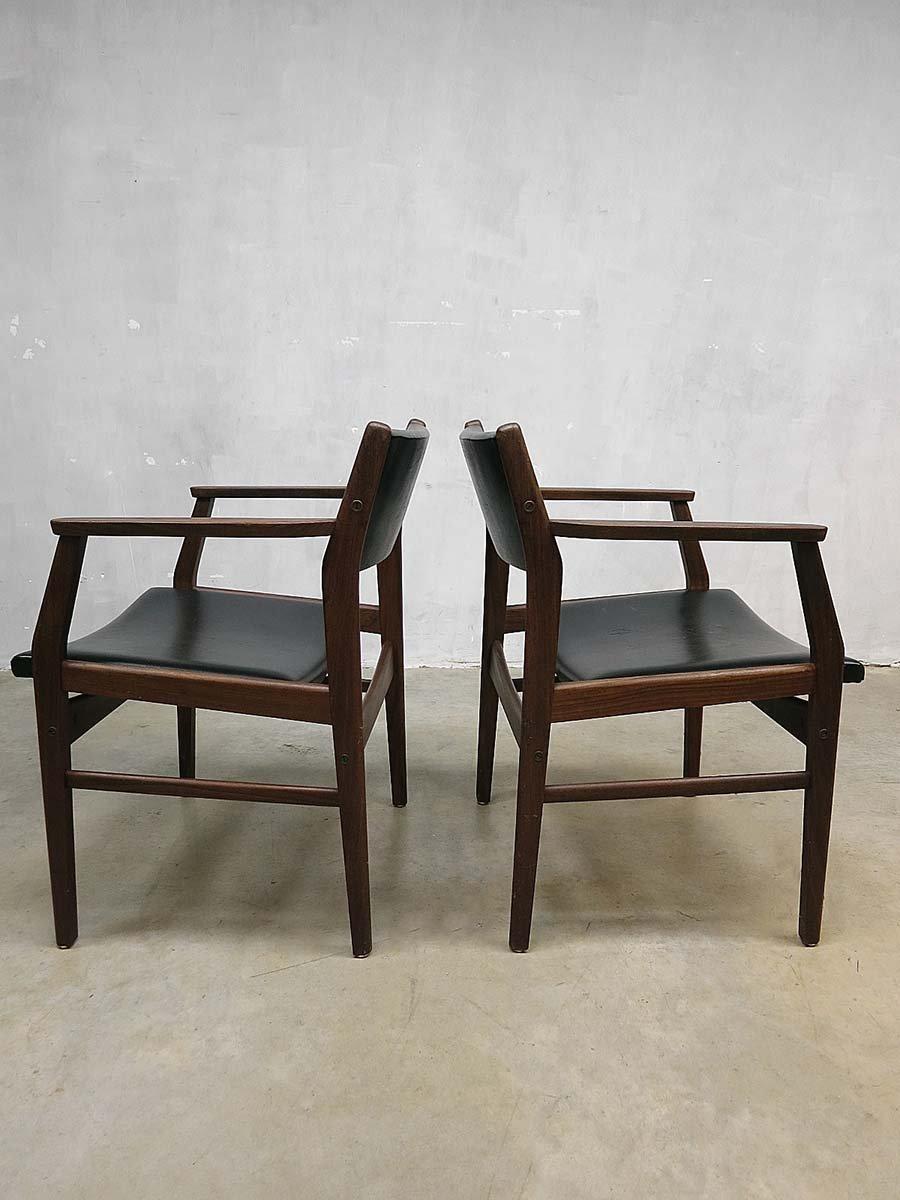 vintage esszimmerst hle von hulmefa 1960er 9er set bei. Black Bedroom Furniture Sets. Home Design Ideas