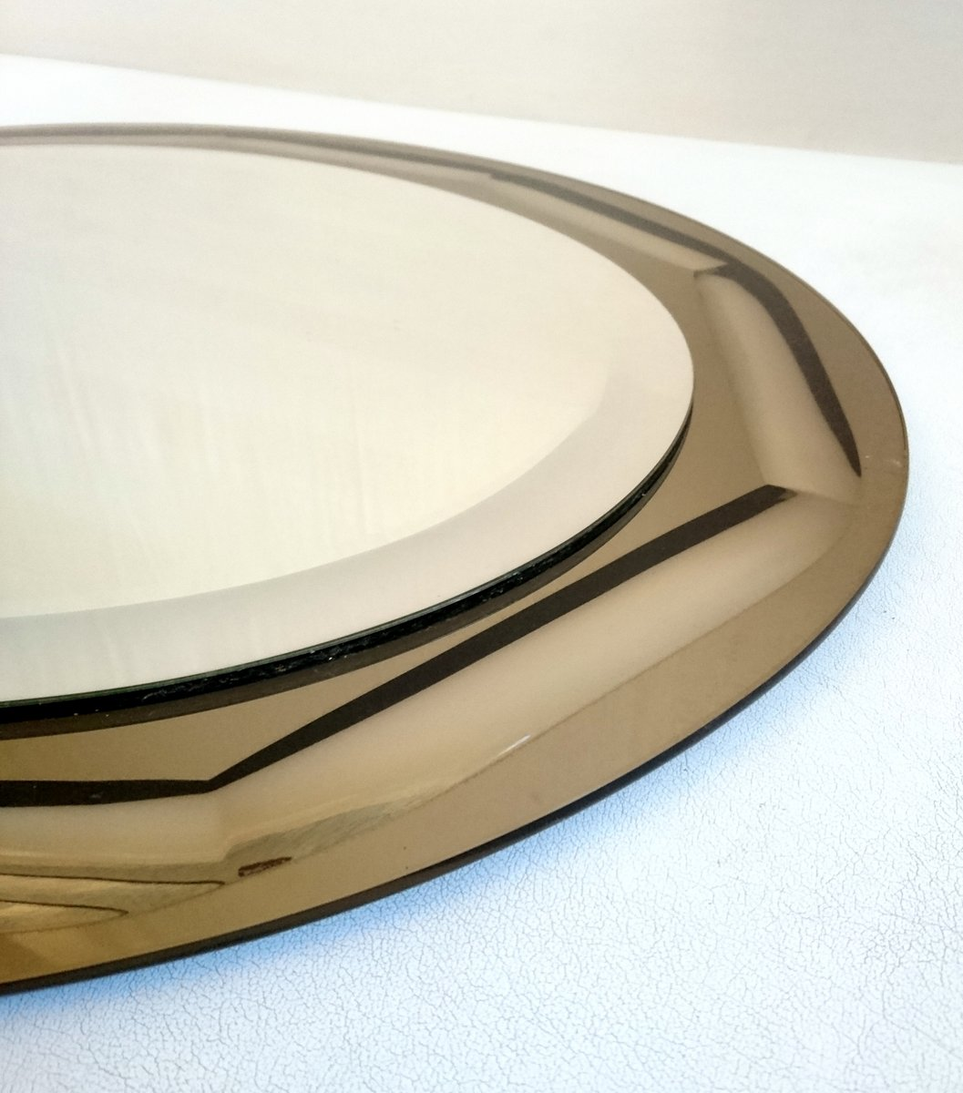 vintage italian oval mirror by lupi cristal luxor 1970s. Black Bedroom Furniture Sets. Home Design Ideas