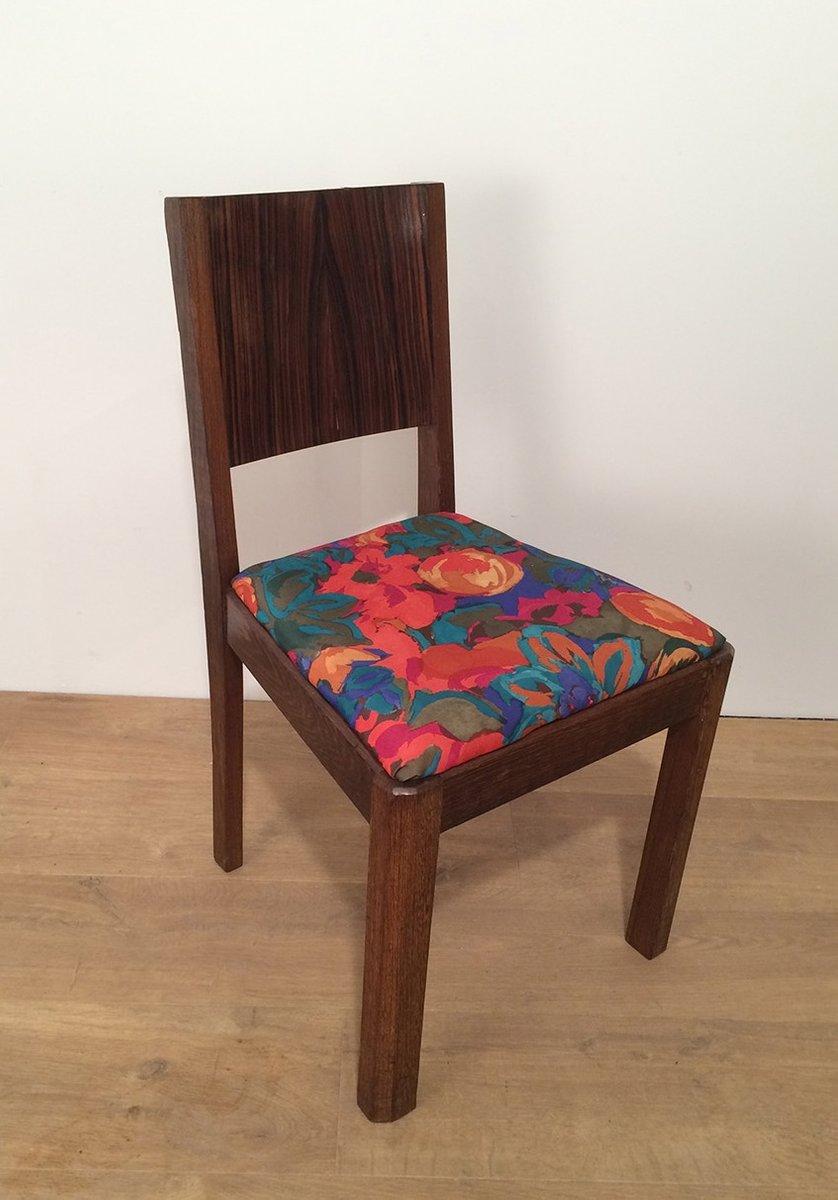 art deco macassar ebenholz st hle 1930er 2er set bei. Black Bedroom Furniture Sets. Home Design Ideas