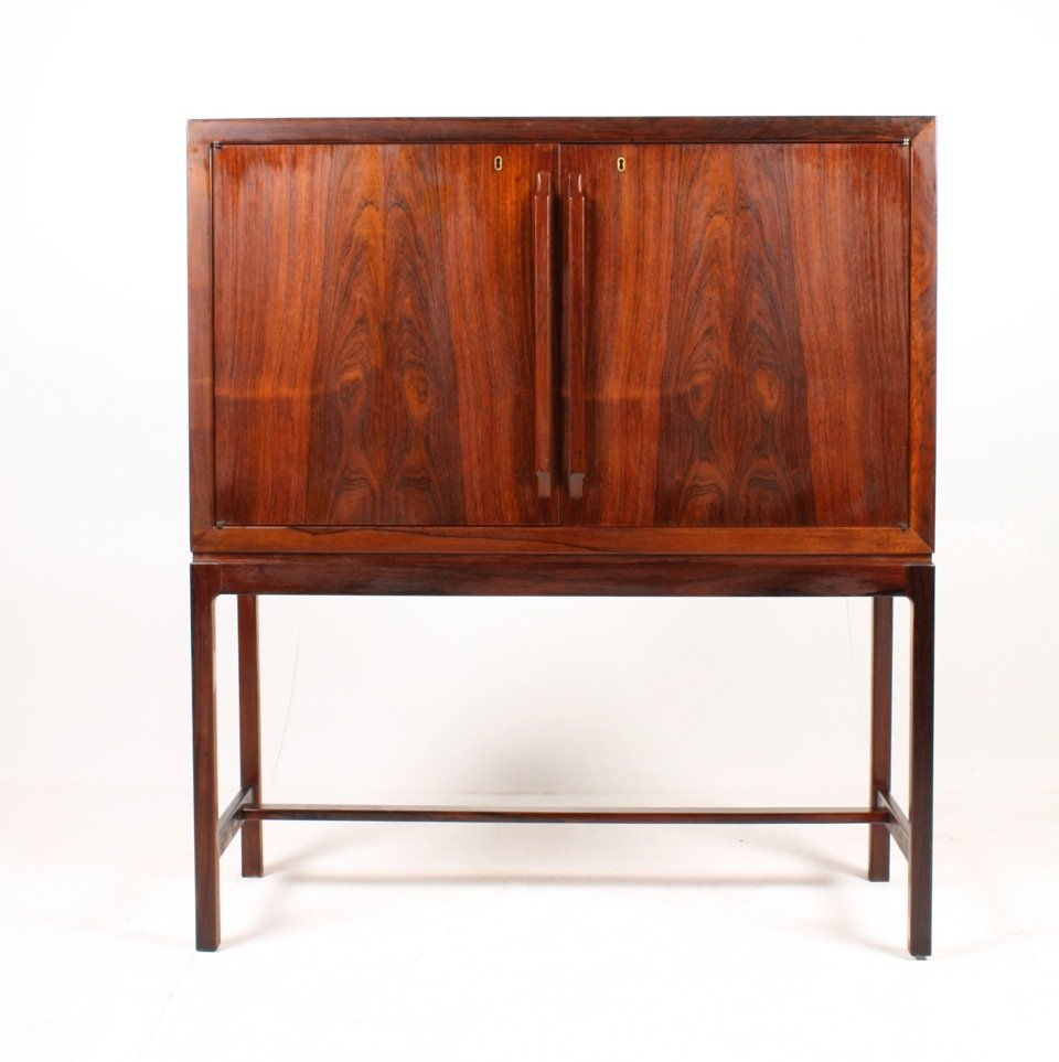 Mid Century Norwegian Dry Bar Cabinet By Torbj Rn Afdal