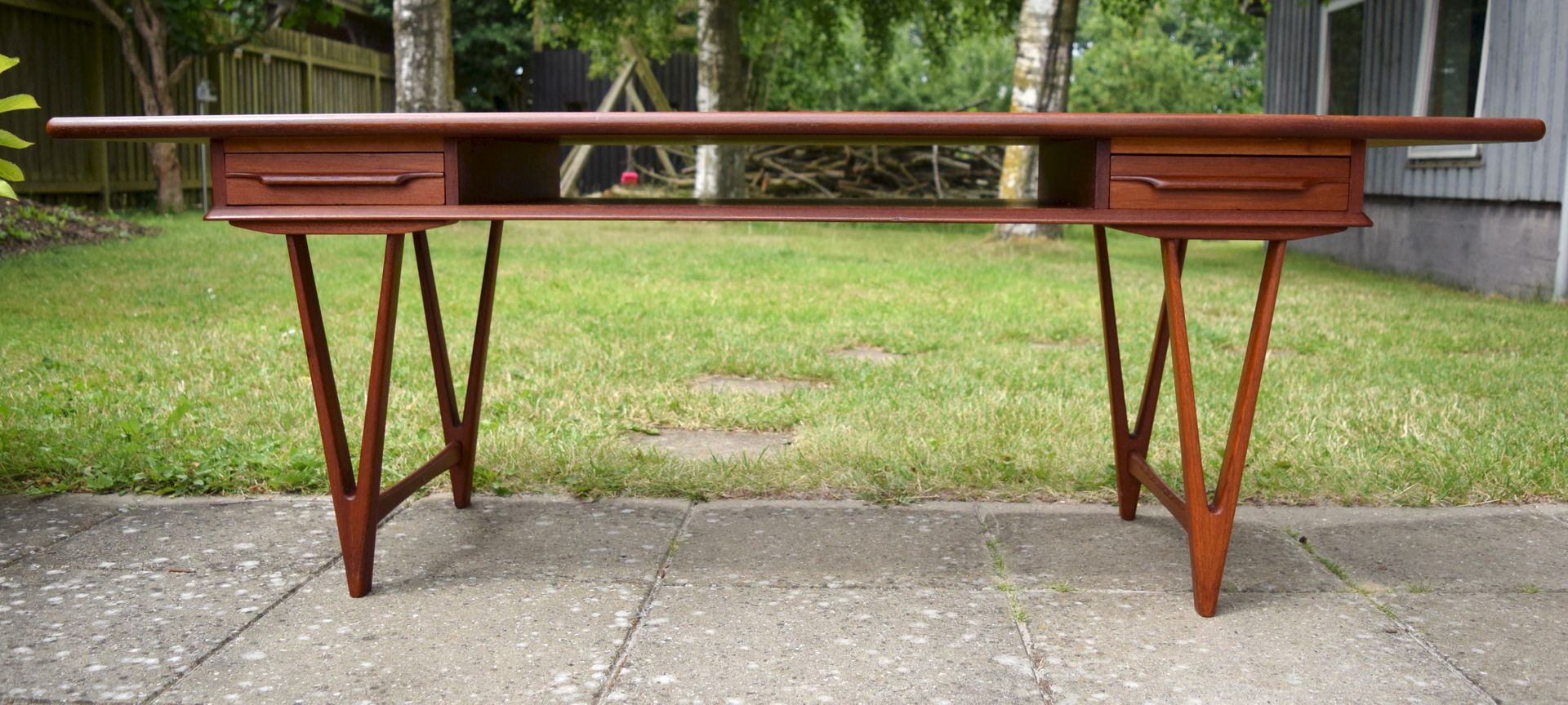 Danish Teak Coffee Table By E W Bach For Toften 1960s For Sale At Pamono