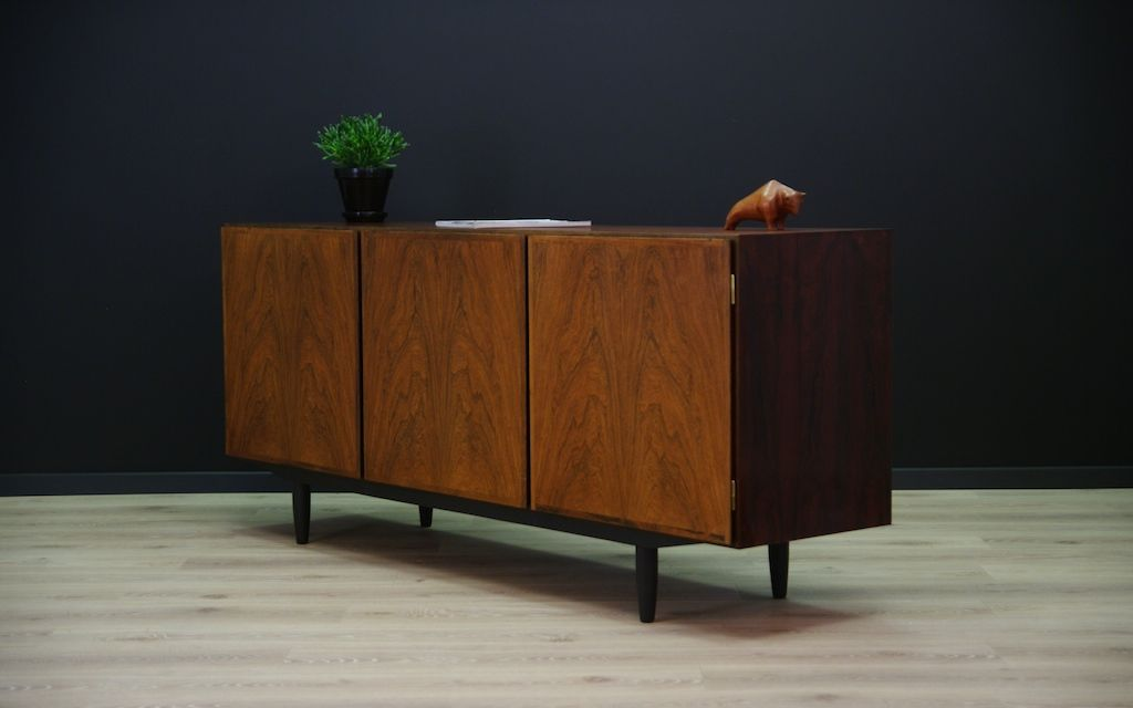 d nisches palisander sideboard mit drei t ren von omann jun 1960er bei pamono kaufen. Black Bedroom Furniture Sets. Home Design Ideas