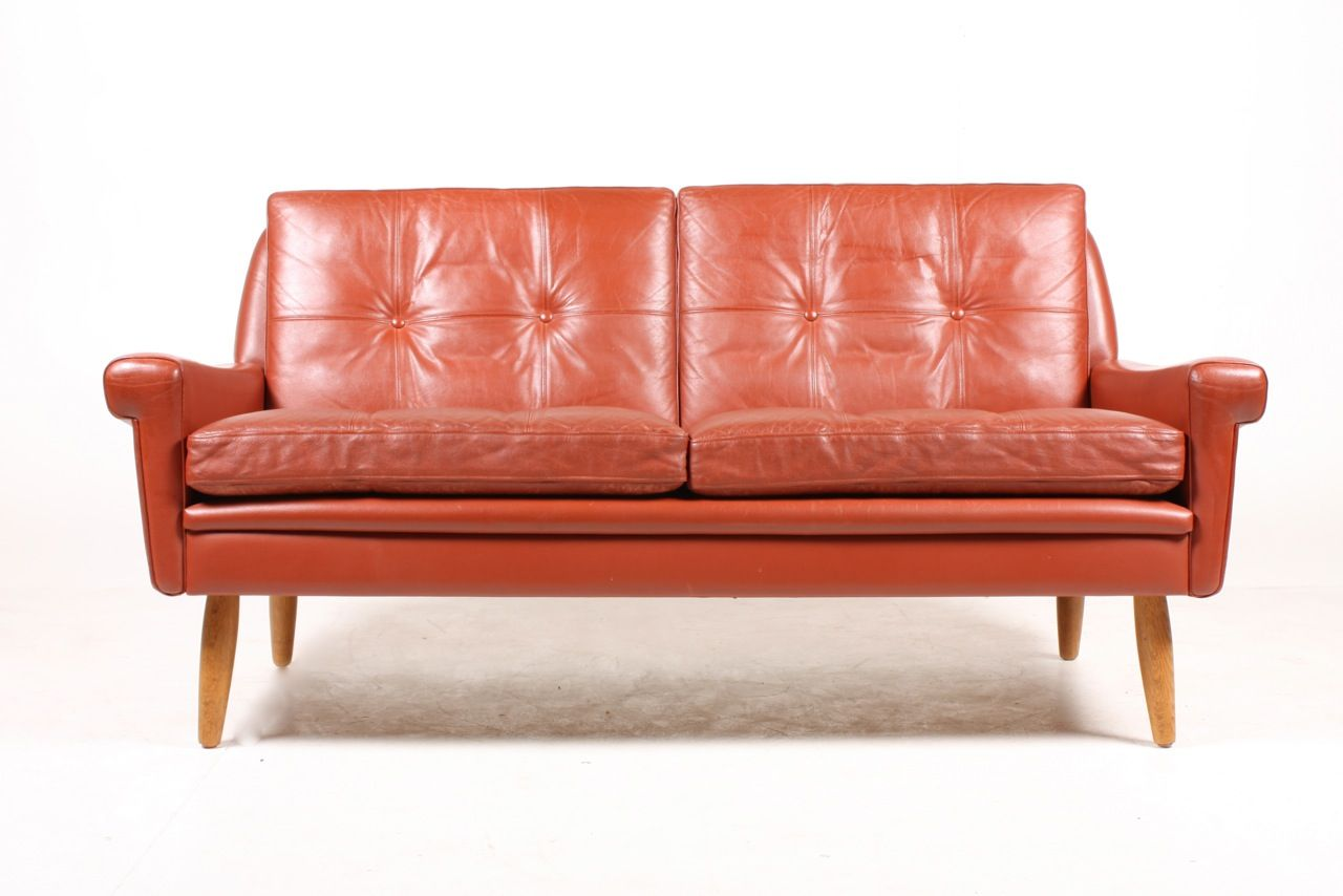danish red leather sofa by svend skipper 1970s for sale at p