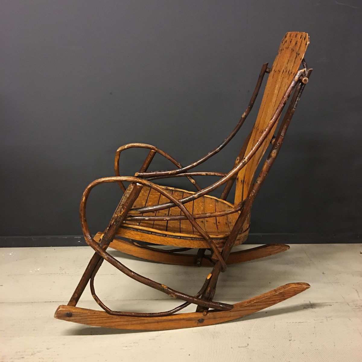 Wonderful image of Vintage American Adirondack Rocking Chair for sale at Pamono with #A46427 color and 1200x1200 pixels