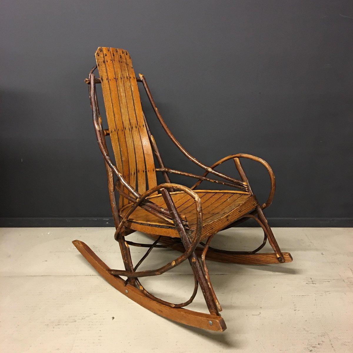 amerikanischer vintage adirondack schaukelstuhl bei pamono kaufen. Black Bedroom Furniture Sets. Home Design Ideas