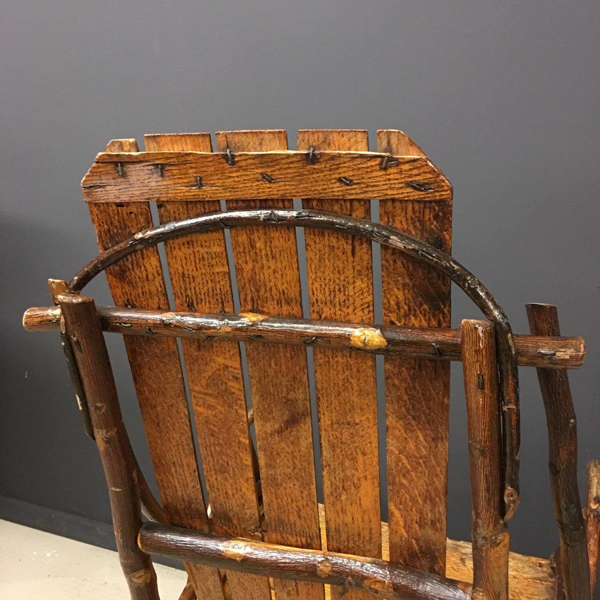 amerikanischer vintage adirondack schaukelstuhl bei pamono. Black Bedroom Furniture Sets. Home Design Ideas