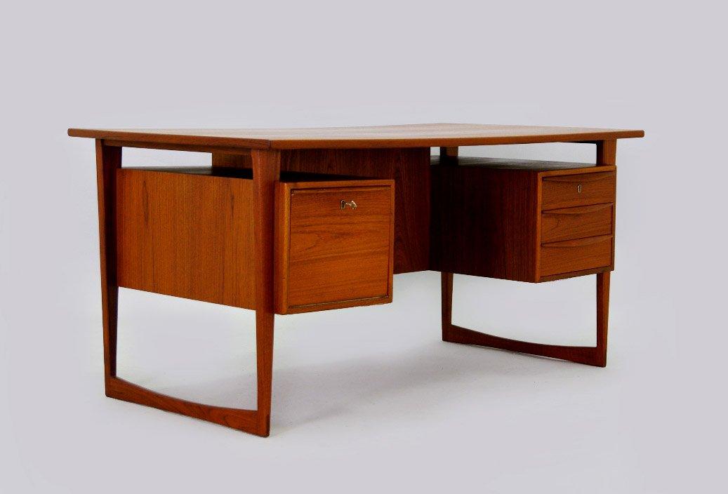 Danish Teak Desk With Bar 1960s For Sale At Pamono