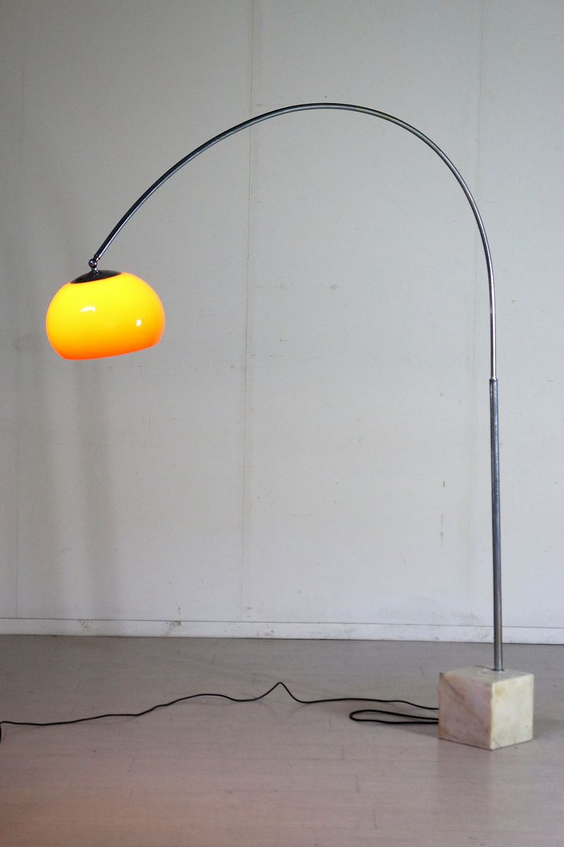 extendable italian floor lamp with marble base 1960s for