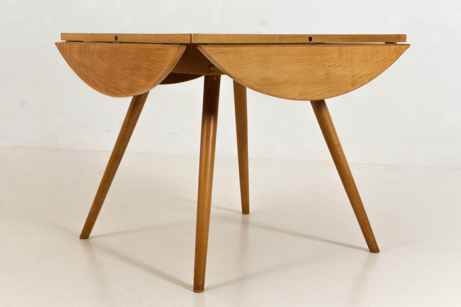 Tavolo con anta ribaltabile e 3 sedie di Cees Braakman per Pastoe ...