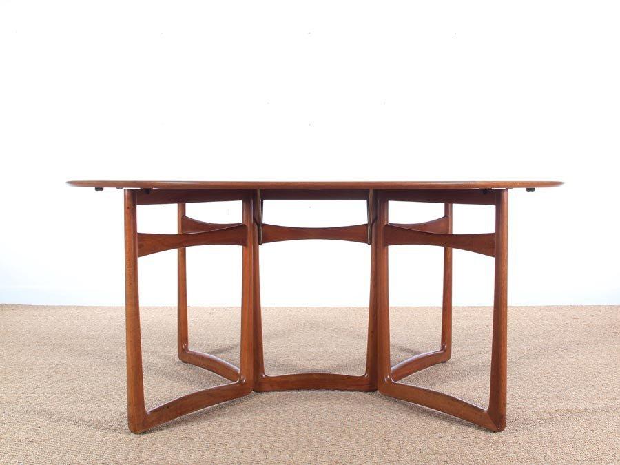 Mid Century Modern Teak 20 59 Folding Dining Table by Hvidt and M lgaard  Nielsen. Mid Century Modern Teak 20 59 Folding Dining Table by Hvidt and