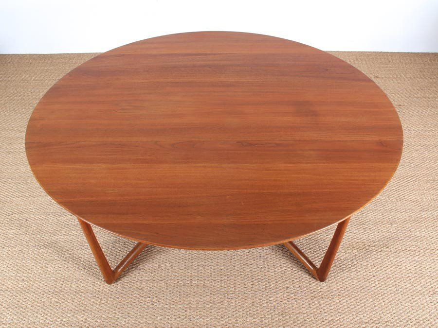 MidCentury Modern Teak 2059 Folding Dining Table by Hvidt and