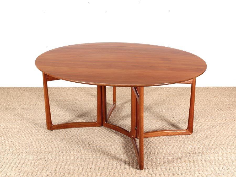 Mid Century Modern Teak 2059 Folding Dining Table by  : mid century modern teak 20 59 folding dining table by hvidt and molgaard nielsen 5 from www.pamono.com size 900 x 675 jpeg 113kB
