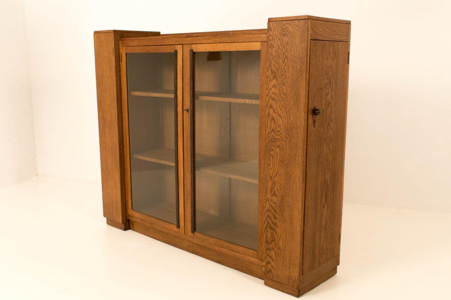 art deco haager schule b cherschrank mit vier t ren 1920er bei pamono kaufen. Black Bedroom Furniture Sets. Home Design Ideas