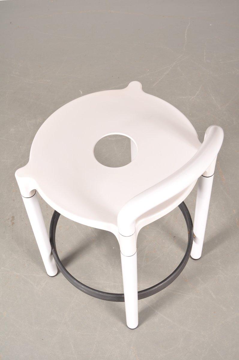 Italian White with Black Plastic Bar Stool by Anna  : italian white with black plastic bar stool by anna castelli ferrieri for kartell 1970s 9 from www.pamono.eu size 797 x 1200 jpeg 43kB