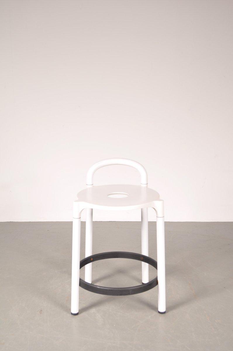 tabouret de bar blanc avec plastique noir par anna. Black Bedroom Furniture Sets. Home Design Ideas
