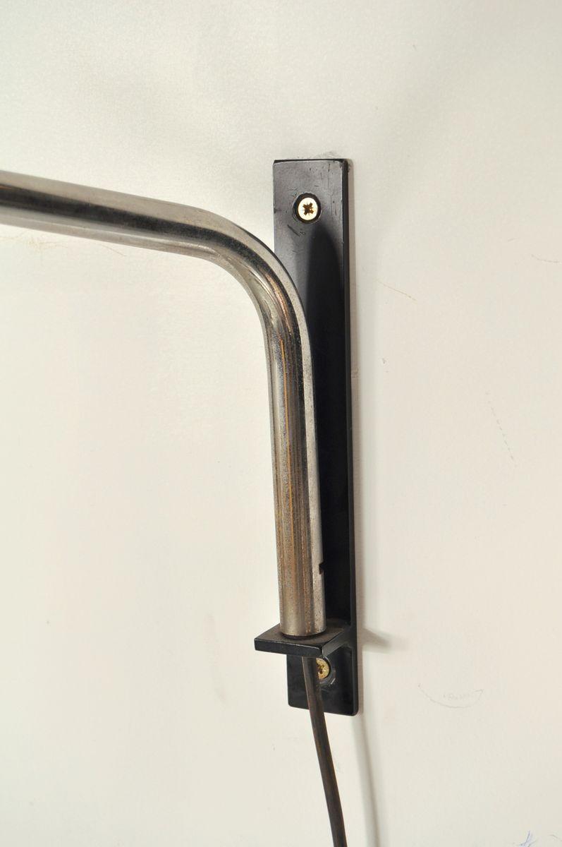 verstellbare niederl ndische wandlampe aus verchromtem metall von raak 1960er bei pamono kaufen. Black Bedroom Furniture Sets. Home Design Ideas