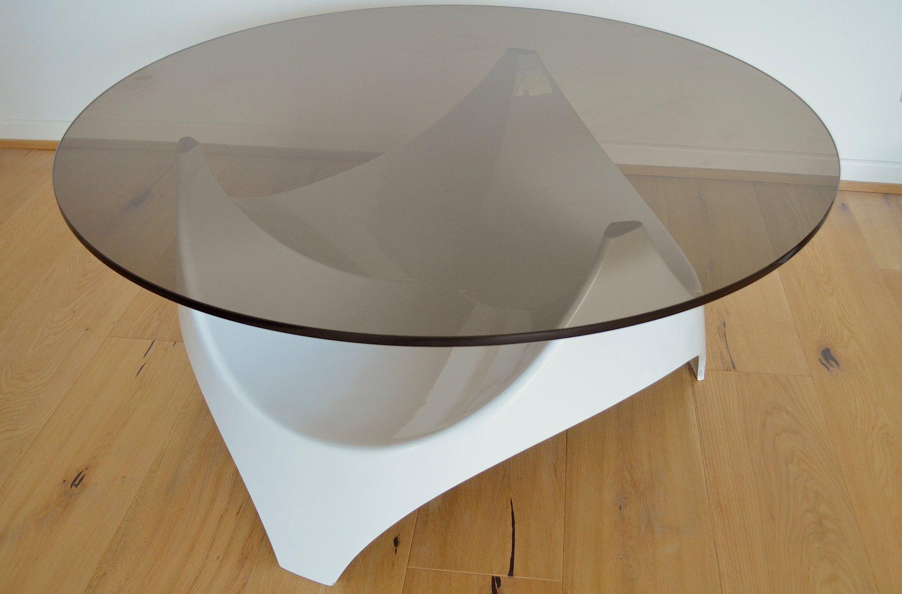 mid century couchtisch mit tischplatte aus rauchglas von opal m bel 1960er bei pamono kaufen. Black Bedroom Furniture Sets. Home Design Ideas