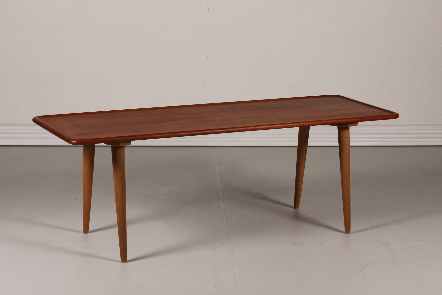 Danish AT 11 Teak Coffee Table by Hans J Wegner for Andreas Tuck