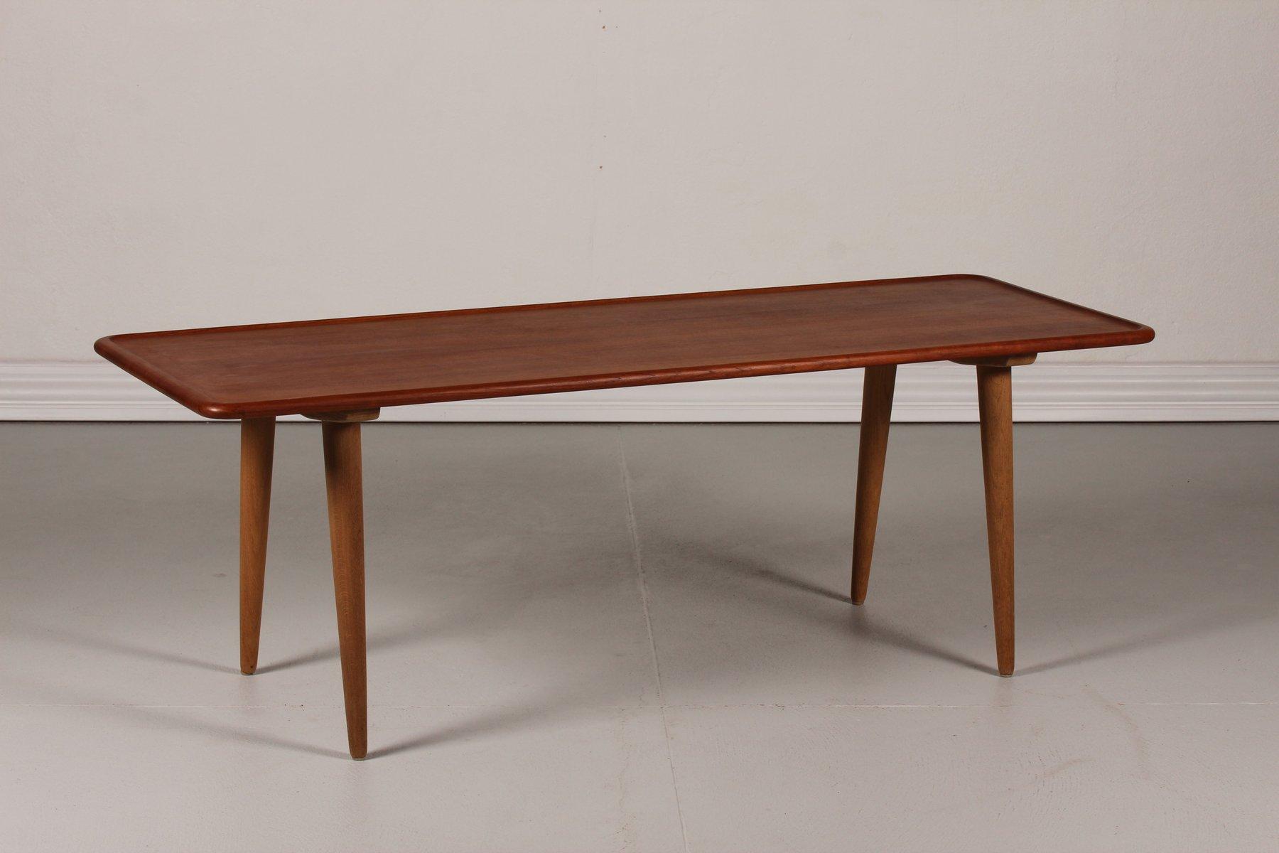 Danish At 11 Teak Coffee Table By Hans J Wegner For Andreas Tuck 1950s