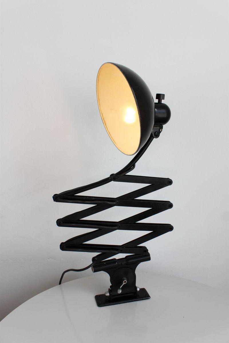 German Bauhaus 6614 Black Scissor Lamp By Christian Dell