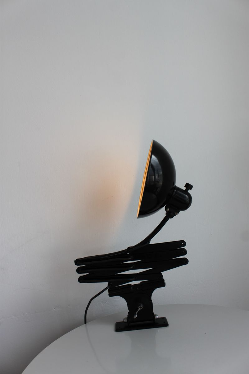 German Bauhaus 6614 Black Scissor Lamp By Christian Dell