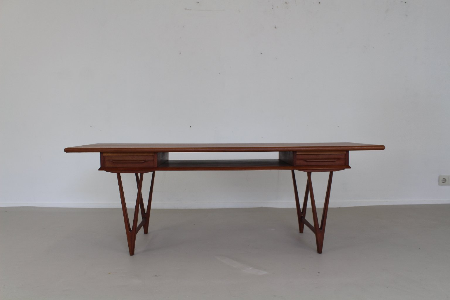 Danish Coffee Table With Two Drawers From Luno M Bler 1965 For Sale At Pamono