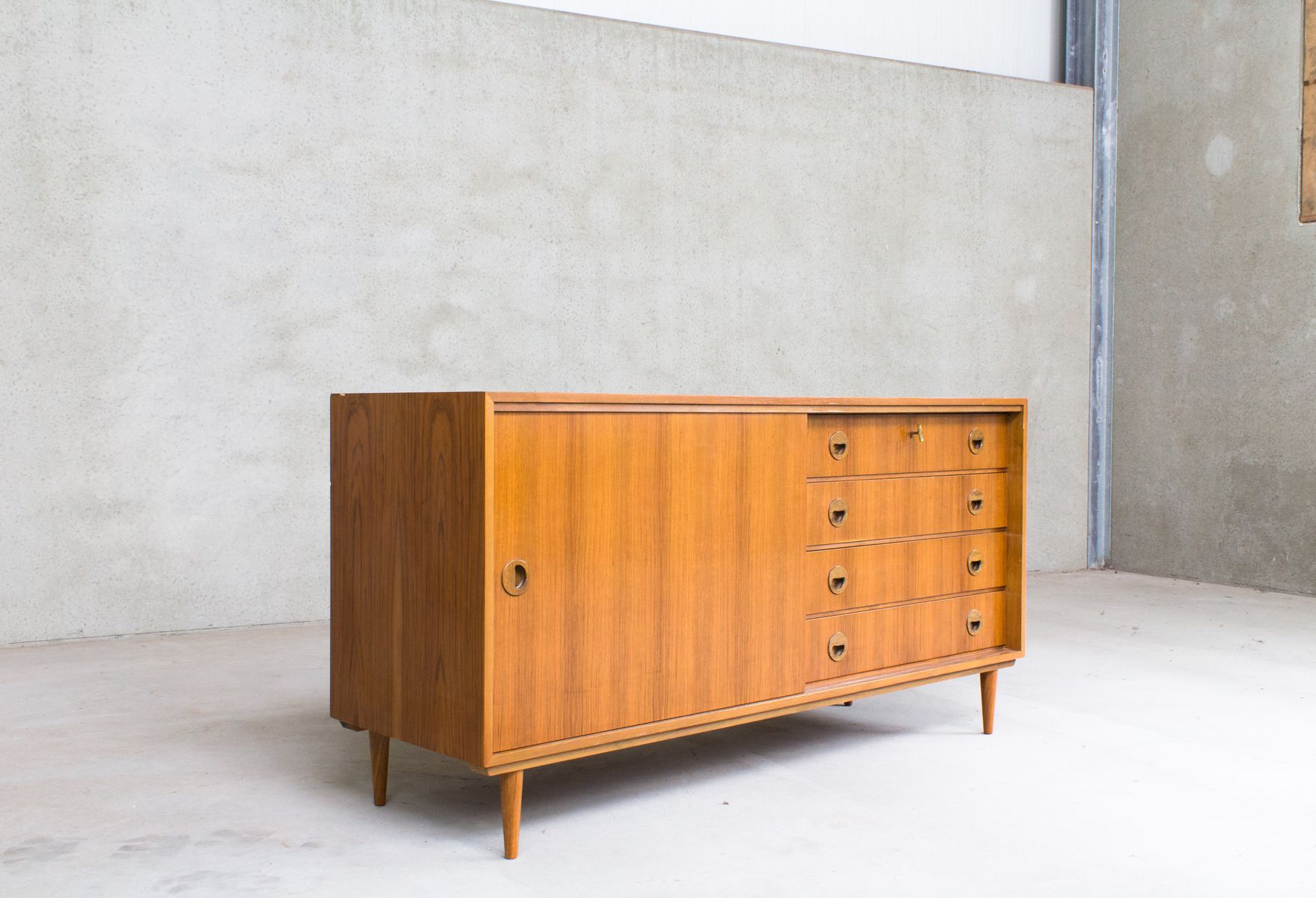 german sideboard from musterring for sale at pamono. Black Bedroom Furniture Sets. Home Design Ideas