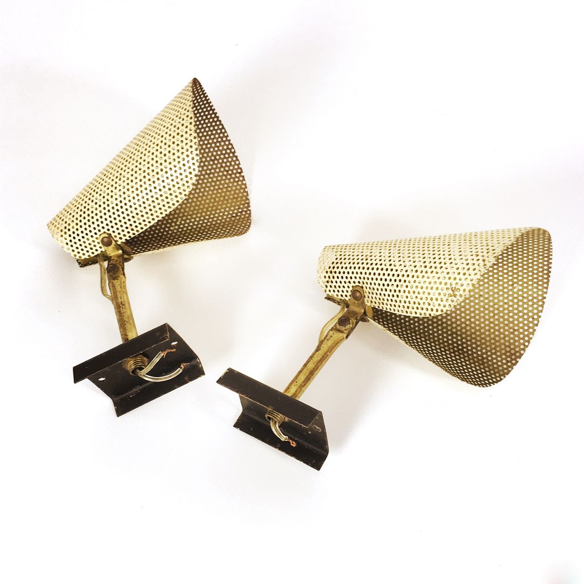 Wall Mount Lamp Set : French Wall Mounted Lamps, 1960s, Set of 2 for sale at Pamono