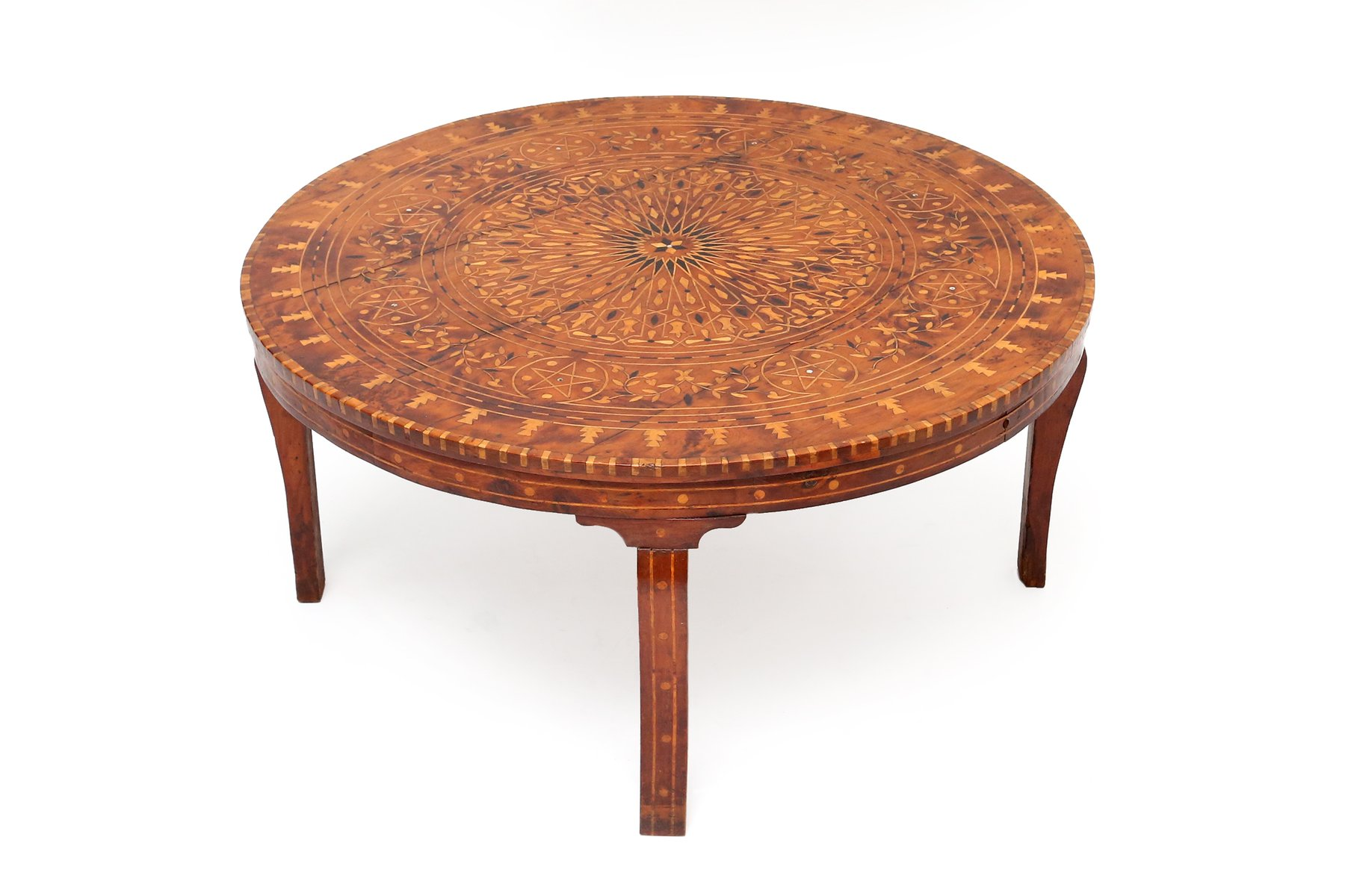 table basse marquetry syrie 1890s en vente sur pamono. Black Bedroom Furniture Sets. Home Design Ideas