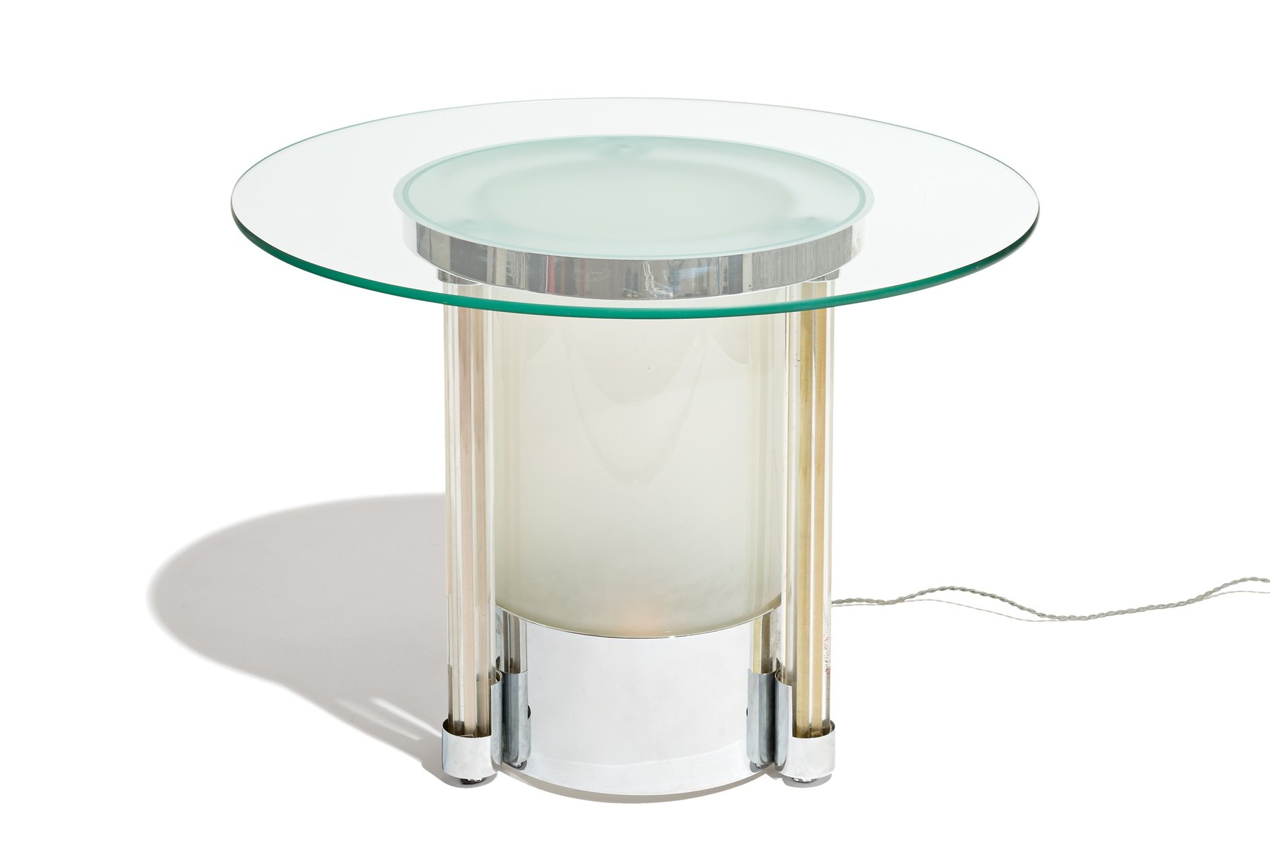 High Quality Vintage Illuminated Art Deco Side Table For Sale At Pamono