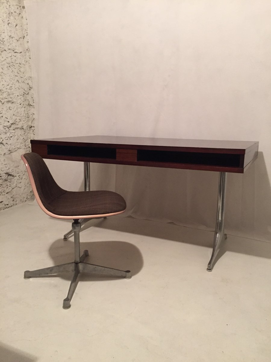 vintage rio rosewood desk by george nelson for herman miller for sale at pamono. Black Bedroom Furniture Sets. Home Design Ideas