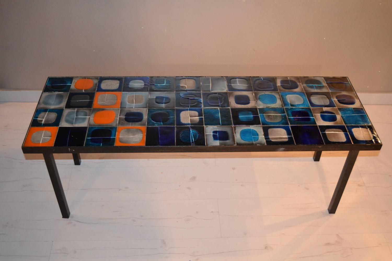 table basse en c ramique par roger capron france 1950 en. Black Bedroom Furniture Sets. Home Design Ideas