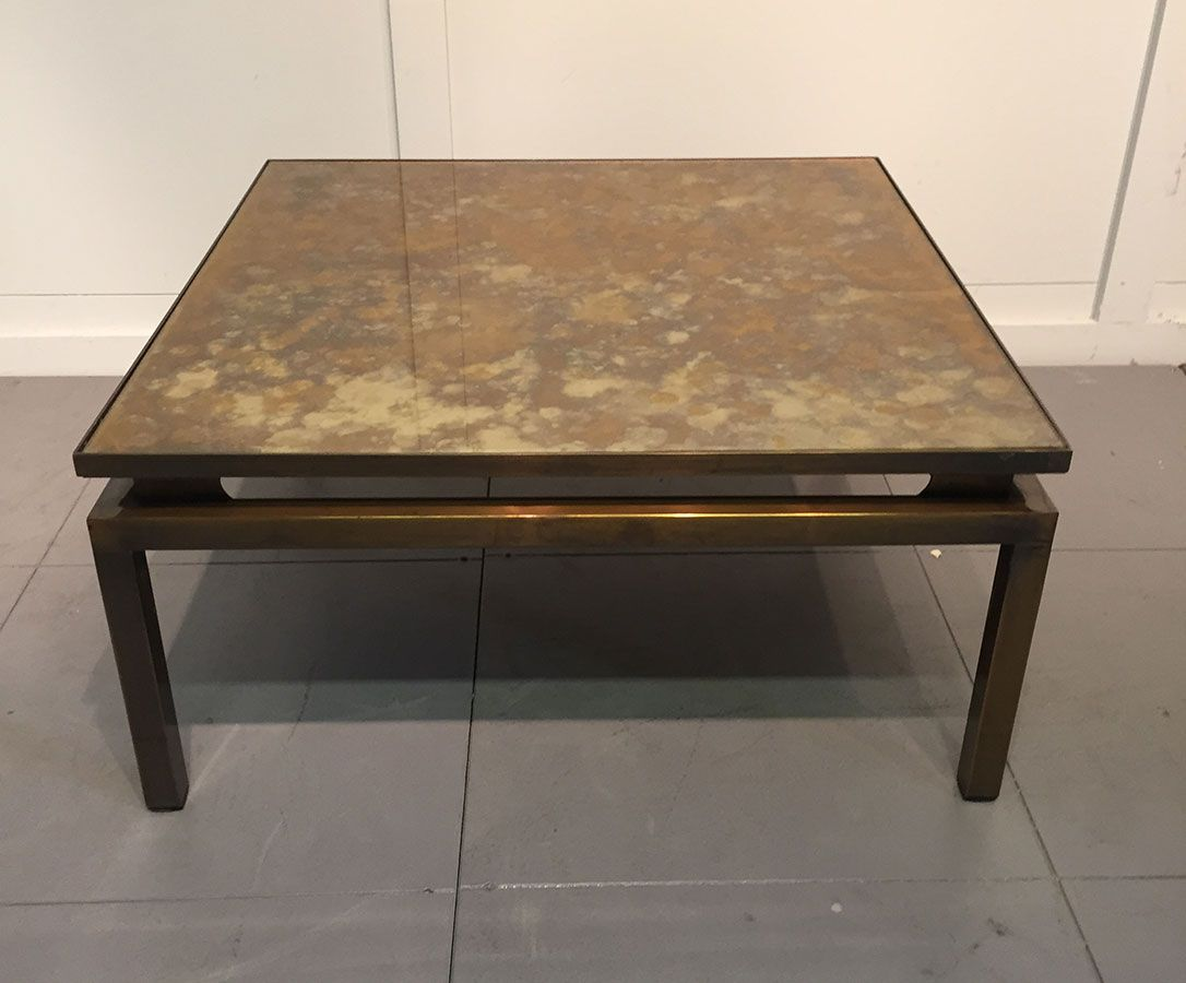 French low square coffee table 1960s for sale at pamono Low coffee table square