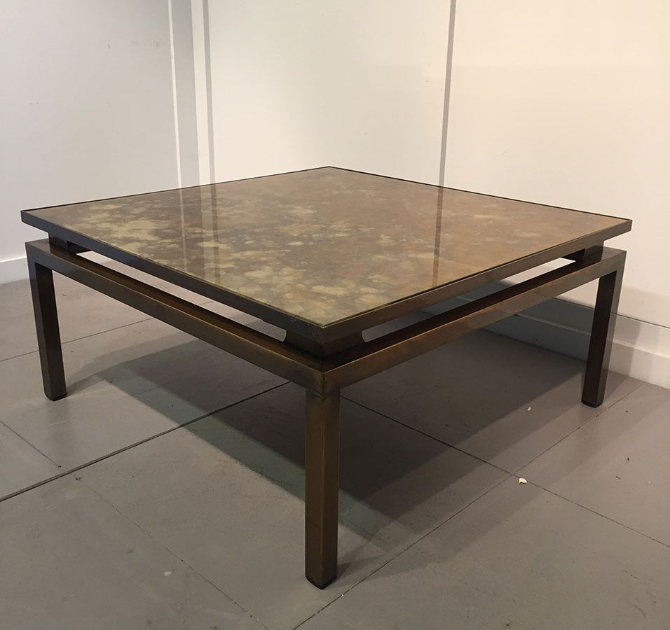 French Low Square Coffee Table 1960s
