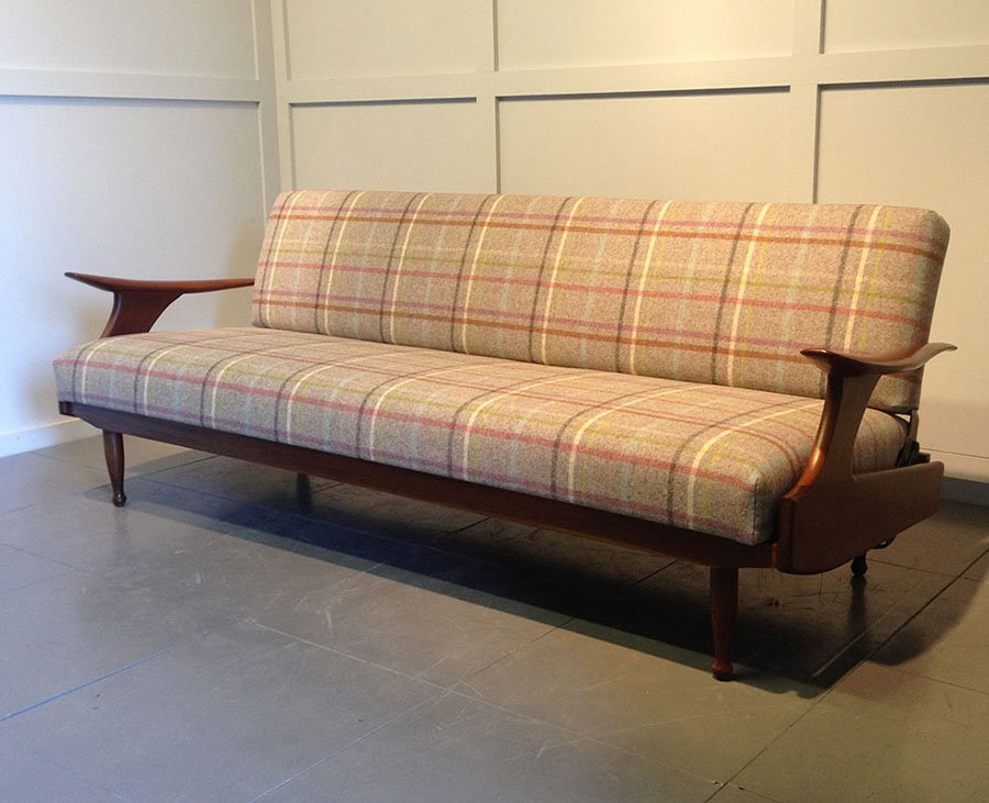 english sofa bed from greaves and thomas 1960s for sale. Black Bedroom Furniture Sets. Home Design Ideas