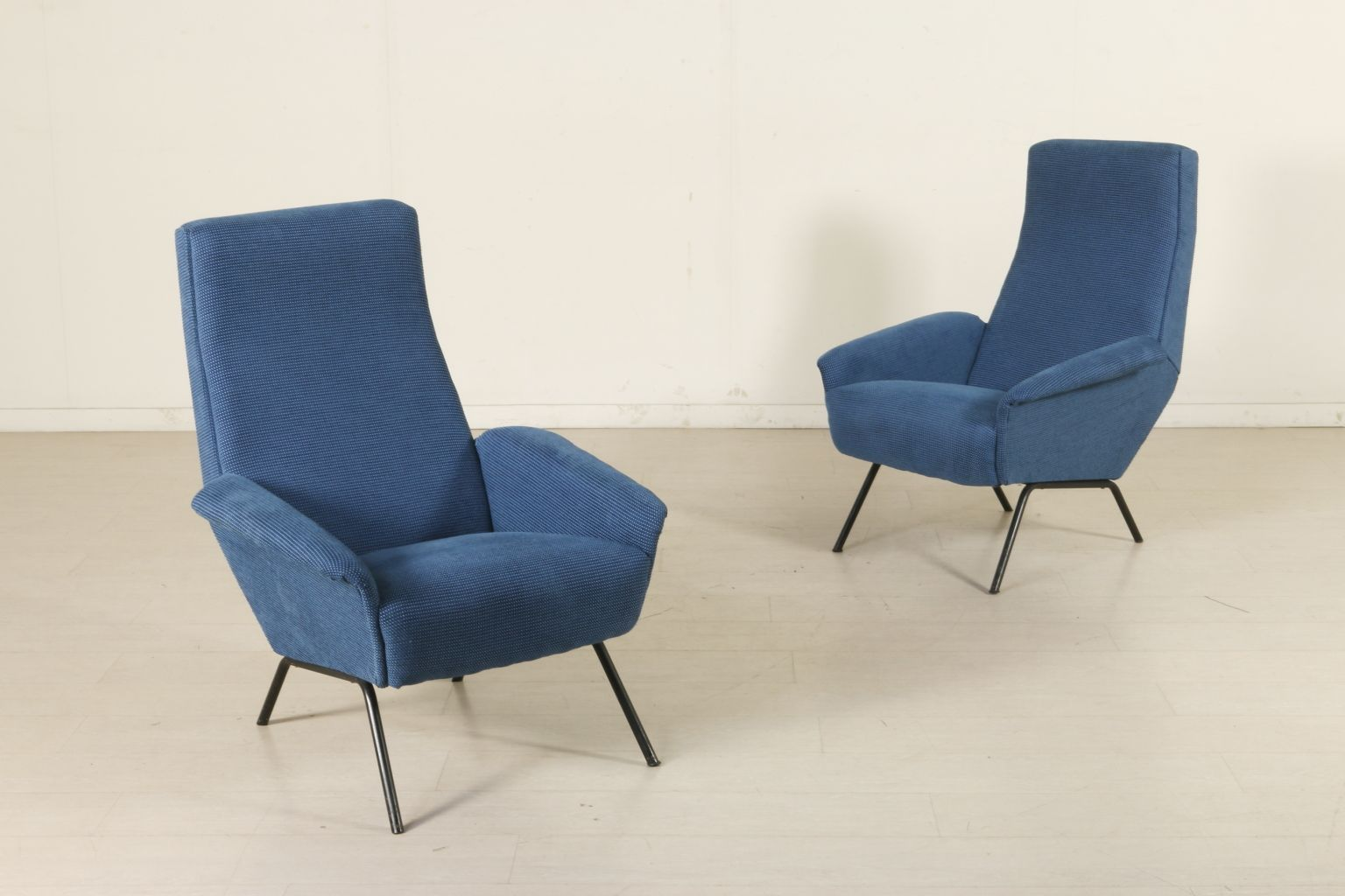 Blue italian armchairs 1960s set of 2 for sale at pamono for 2 armchairs for sale