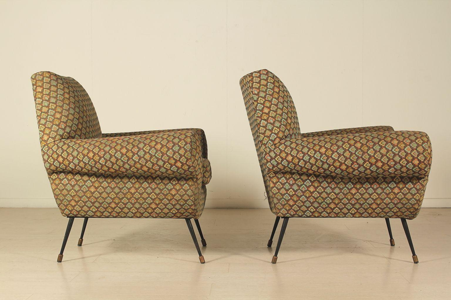 Italienische gemusterte sessel 1950er 2er set bei pamono for Italienische sessel design