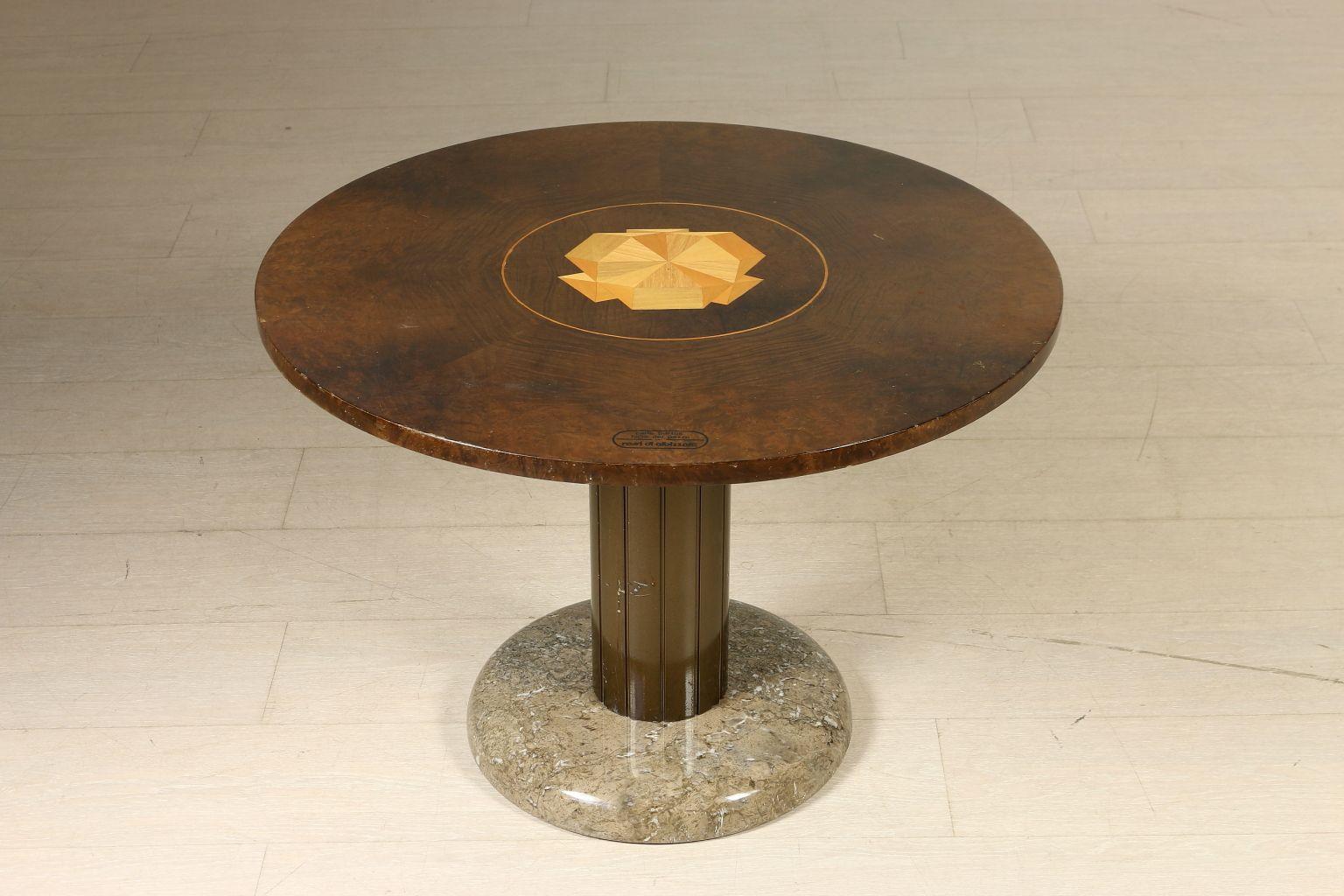 Burl & Marble Coffee Table by Carlo Bartoli & Lucio del Pezzo for ...