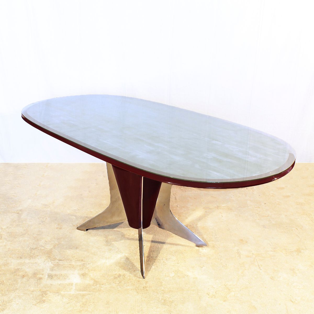italian oval dining table 1950s