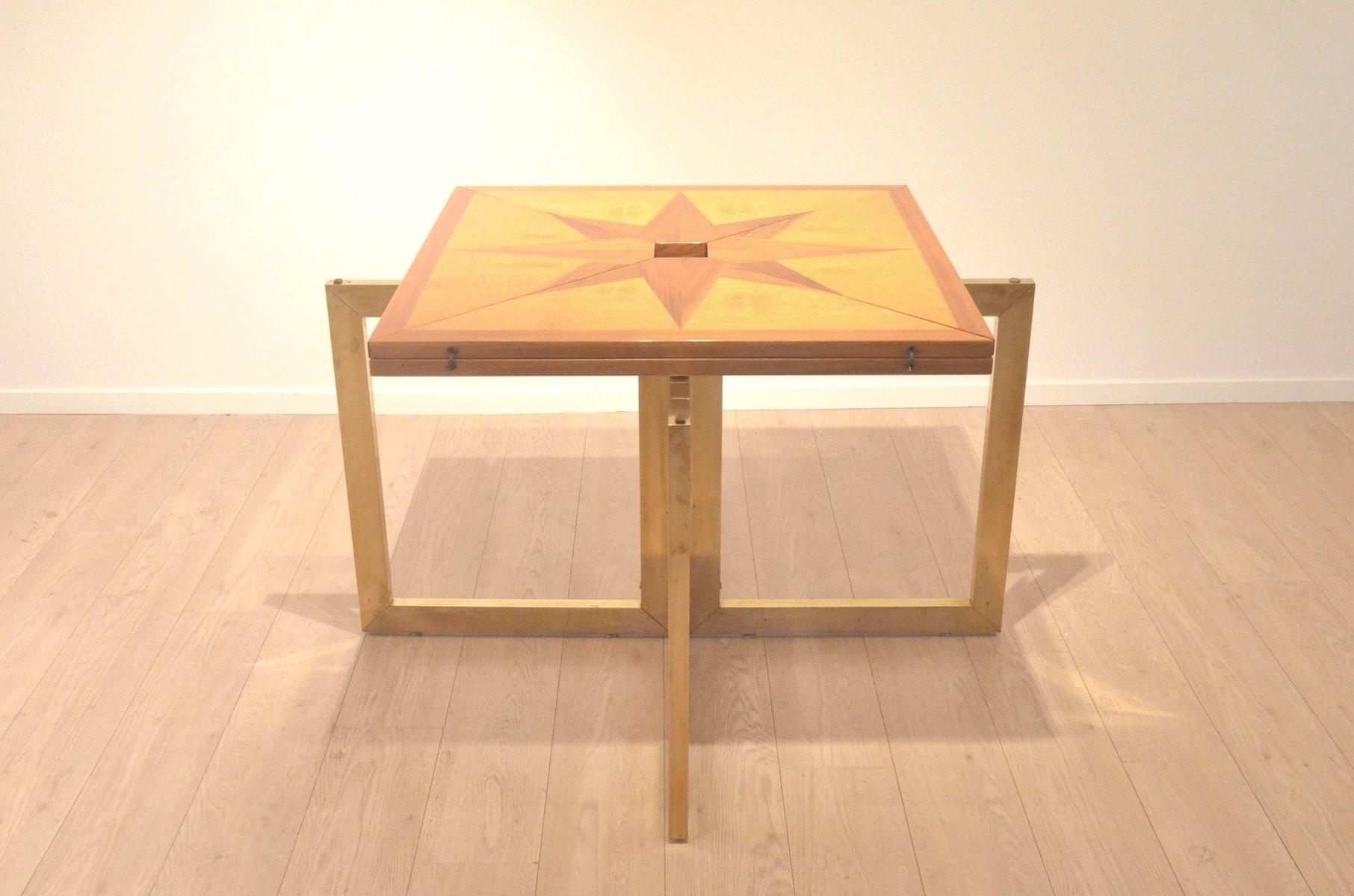 Table de salle manger rallonges en bois bicolore for Table bois bicolore