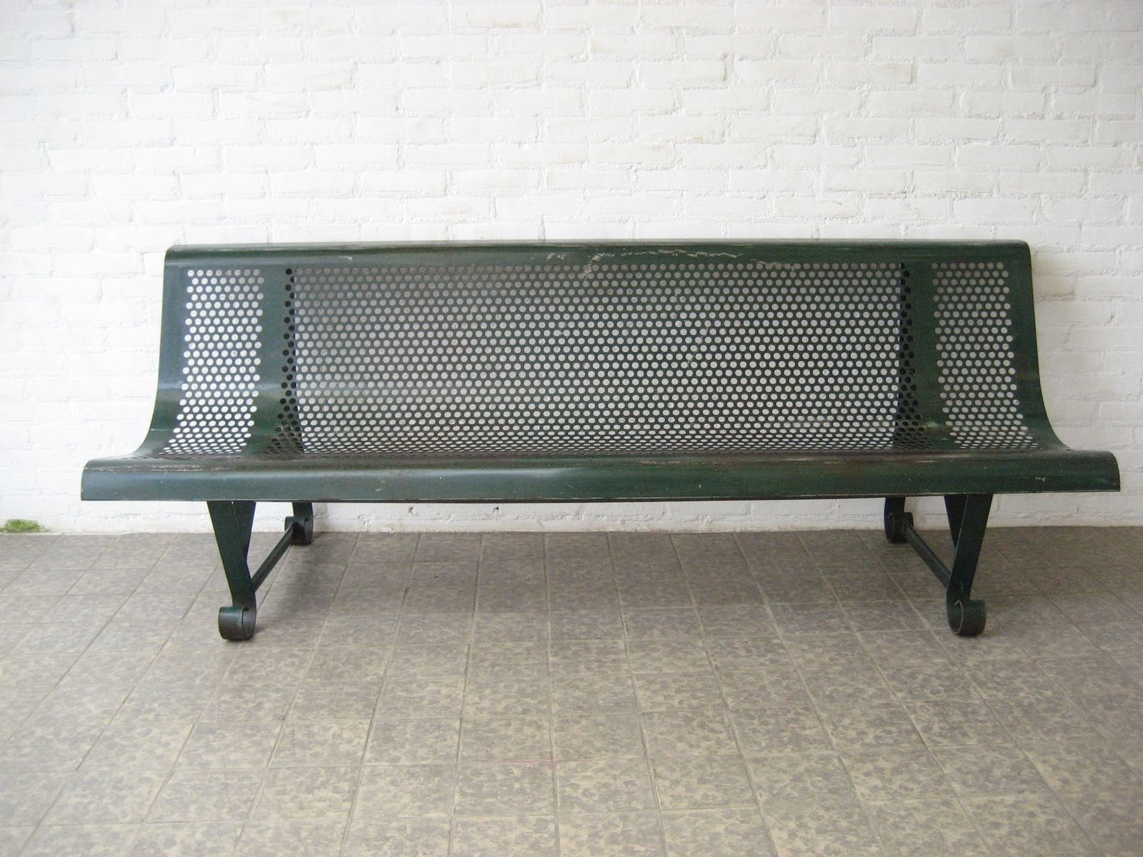 Industrial French Steel Park Bench 1950s For Sale At Pamono