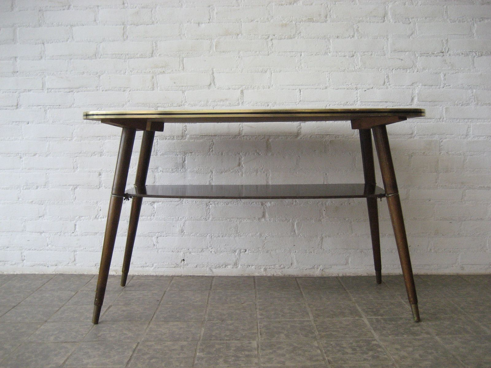 French Vintage Coffee Table With Glass Top 1950s For Sale At Pamono