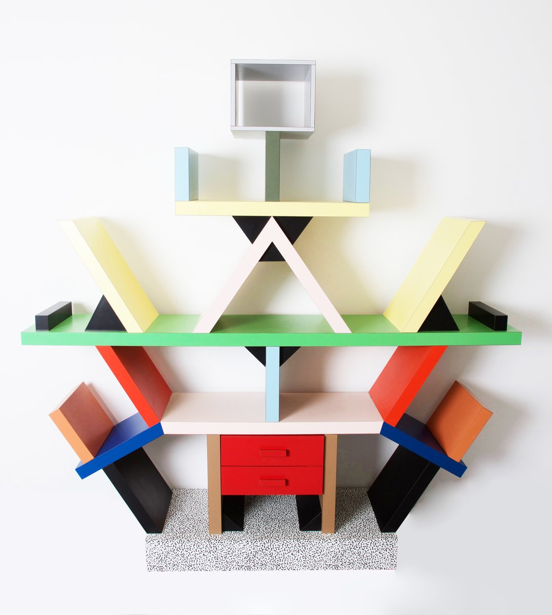 biblioth que carlton par ettore sottsass pour memphis italie 1981 en vente sur pamono. Black Bedroom Furniture Sets. Home Design Ideas