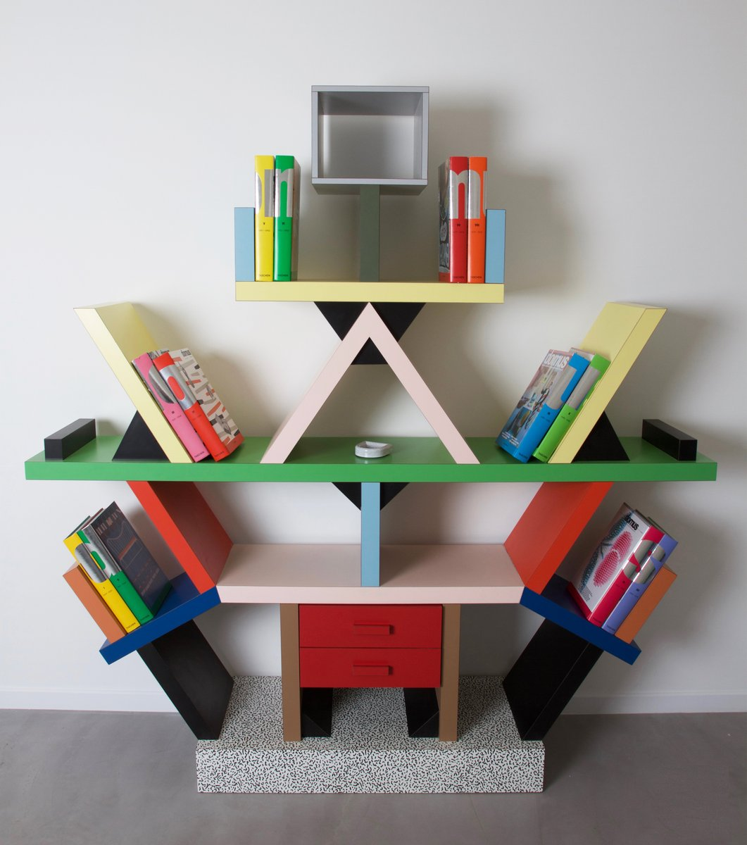 Italian Carlton Bookcase by Ettore Sottsass for Memphis, 1981 for sale at Pamono