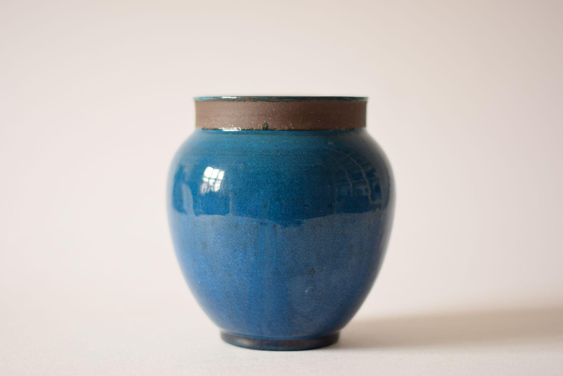 mid century danish turquoise vase from k hler hak 1960s for sale at pamono. Black Bedroom Furniture Sets. Home Design Ideas