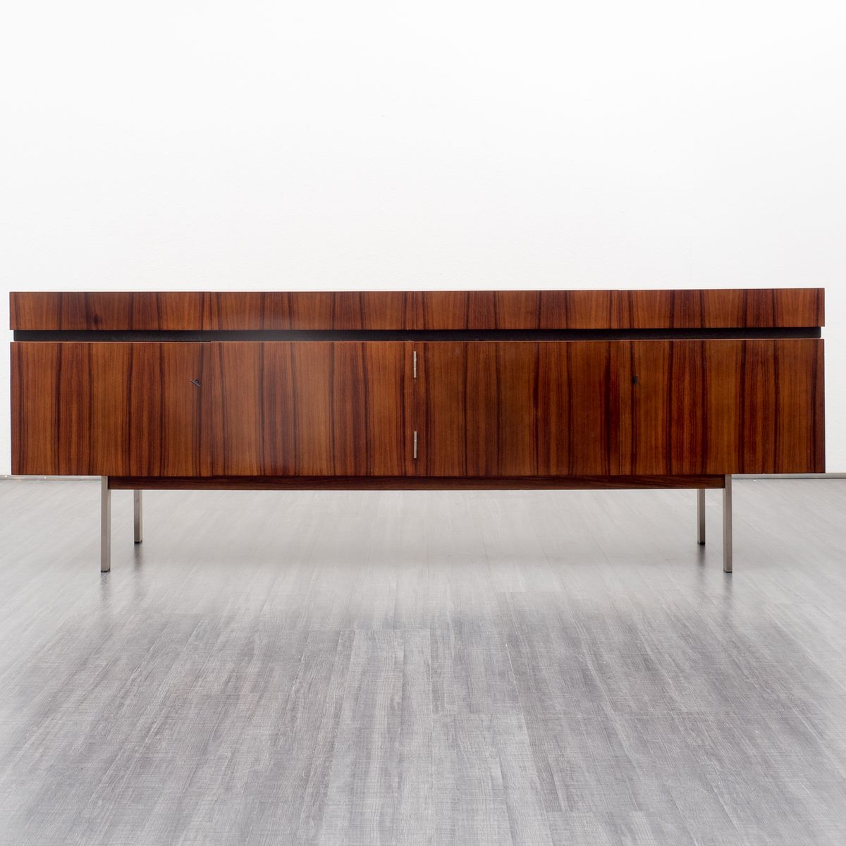 Rosewood and steel sideboard with lockable doors 1970s for Sideboard 250 cm