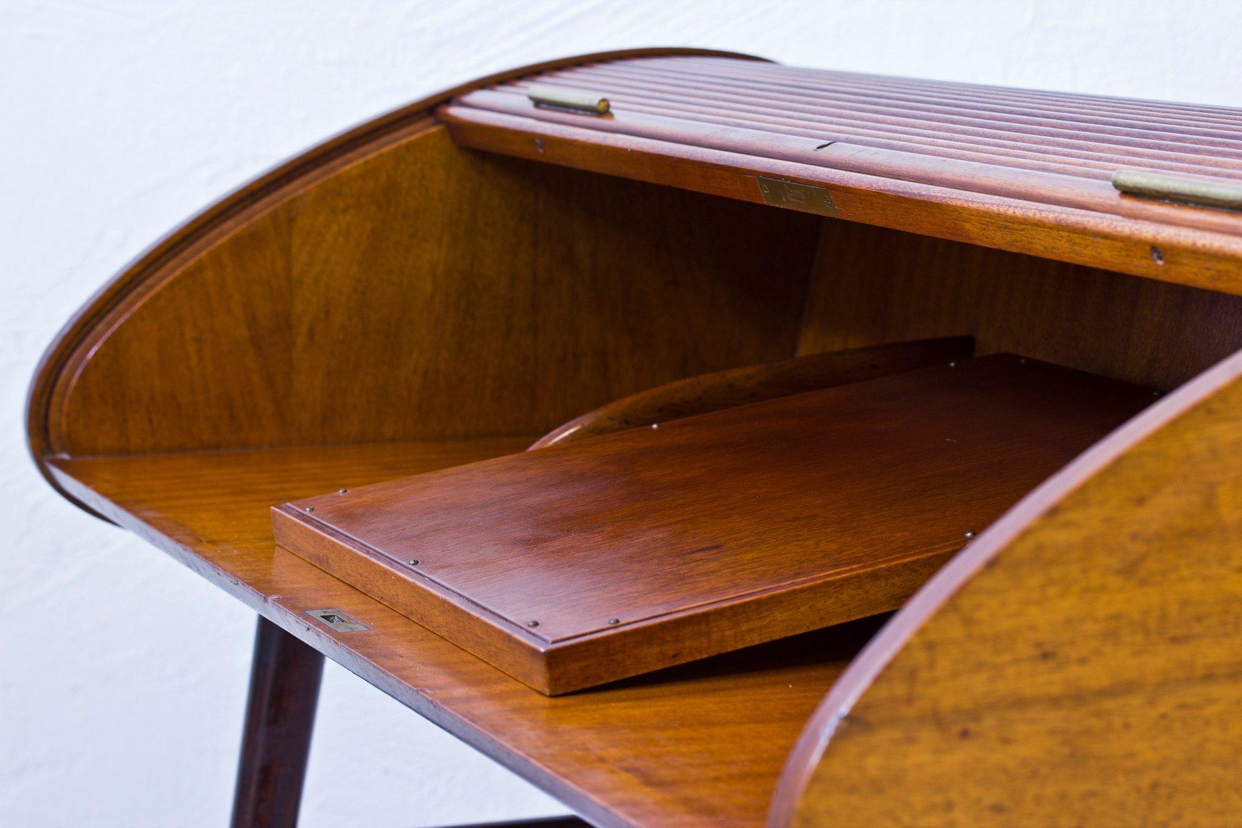 bureau coulissant en acajou de bodafors en vente sur pamono. Black Bedroom Furniture Sets. Home Design Ideas