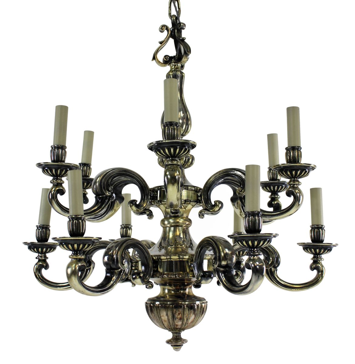 antique charles ii silver chandelier for sale at pamono - antique charles ii silver chandelier
