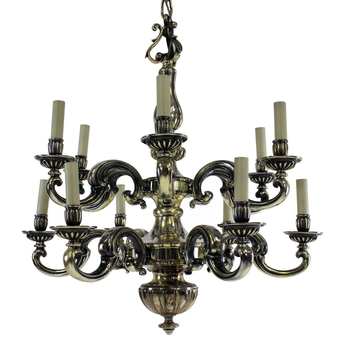 Antique Charles II Silver Chandelier - Antique Charles II Silver Chandelier For Sale At Pamono