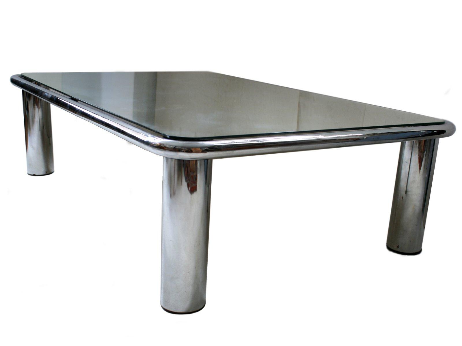 table basse miroir par mario bellini pour c&b italia en vente sur